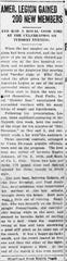 The Gazette from Nov. 12, 1919 shows an article about the American Legion gaining new members.