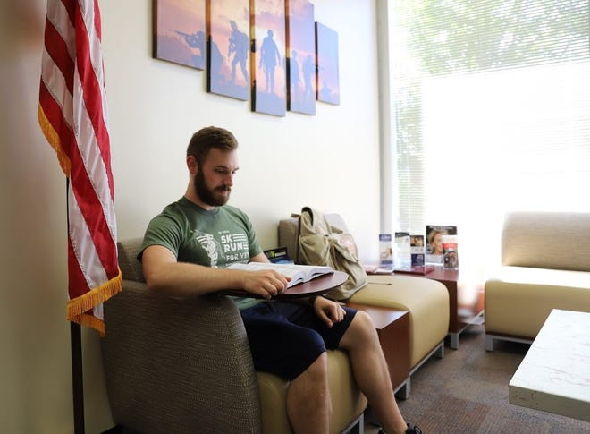 After serving almost four years in the U.S. Navy as a nuclear mechanic, Joshua Pilcher is using the GI Bill to pursue a bachelor's degree in mechanical engineering technologies.