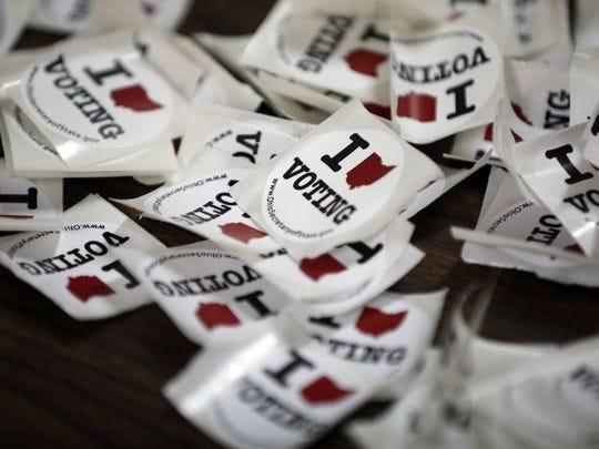 Ohio's voting sticker.