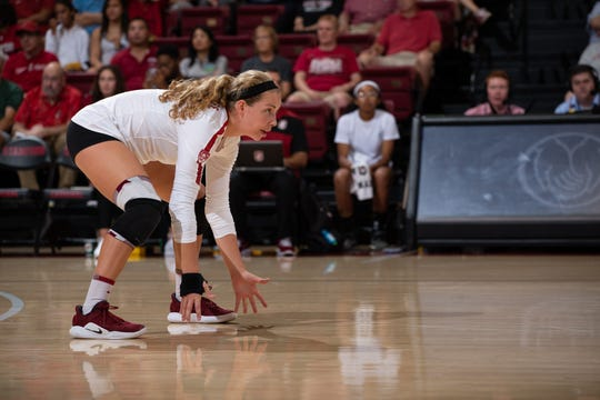 STANFORD, CA - September 21, 2019: Stanford falls to BYU 3-1 at Maples Pavilion.