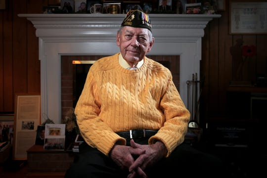 World War II veteran Edward Burke, who served at the Battle of Bulge pictured, Wednesday, Oct. 30, 2019, at his home in Green Township.