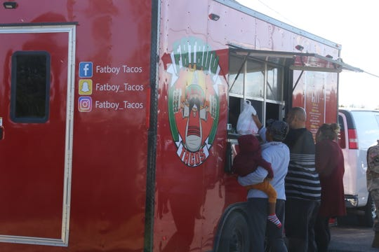 Fatboy Taco customers welcomed back the popular food truck on Tuesday, after it was totaled in a car wreck in April.