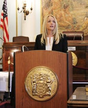 Patricia Gusmano, a nearly 30-year law enforcement veteran, was sworn in as Union County Prosecutor's Office's first female chief detectives.
