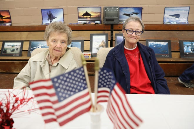Diana Caton, right and Suzanne Ocvirek went to high school together and later served in the Army. Now living in Riverside Towers, the two have reconnected.