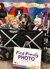 A dog named Ellie, brought to the Animal Rescue League of Iowa last month with severe injuries and infections, has been adopted by her foster family, the ARL said in a recent Facebook post.