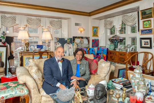 "Detroit art collectors Harold and Joann Braggs have four pieces from their collection in the Detroit Institute of Arts' new exhibit, ""Detroit Collects: Selections of African-American Art from Private Collections."""