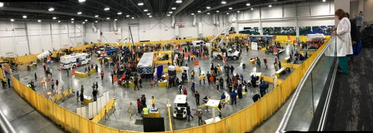 Thousands of Metro Detroit students participate in MiCareerQuest Friday, Nov. 08, 2019 at the Suburban Collection Showplace in Novi. Over 100 exhibiting organizations showcase more than 200 in-demand jobs in four career quadrants.