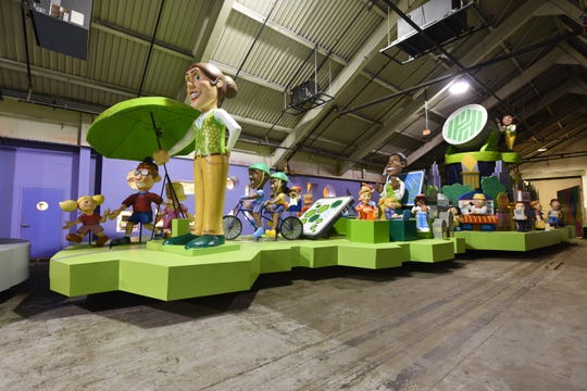 Huntington Bank's new float for America's Thanksgiving Parade was unveiled Friday at The Parade Company's pancake breakfast.