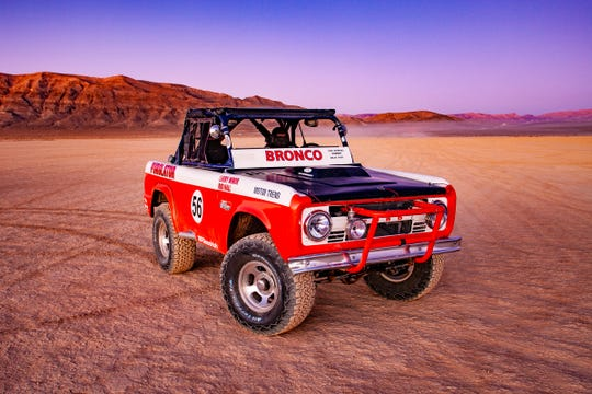 The first-generation Bronco that off-road racing legend Rod Hall drove to win the Baja 1000 race in 1969.