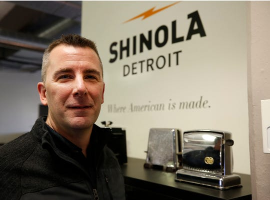 Shinola CEO Tom Lewand is seen at the watch factory on January 4, 2017 in Detroit, Michigan.