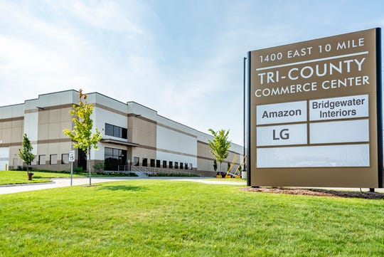 Tri-County Commerce Center continues to add tenants in Hazel Park, at the old Hazel Park Raceway.