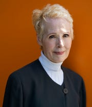 In this June 23, 2019 file photo,  E. Jean Carroll is photographed in New York. Carroll, who says President Donald Trump sexually assaulted her in a New York City department store dressing room in the 1990s, is now suing him for alleged defamation.