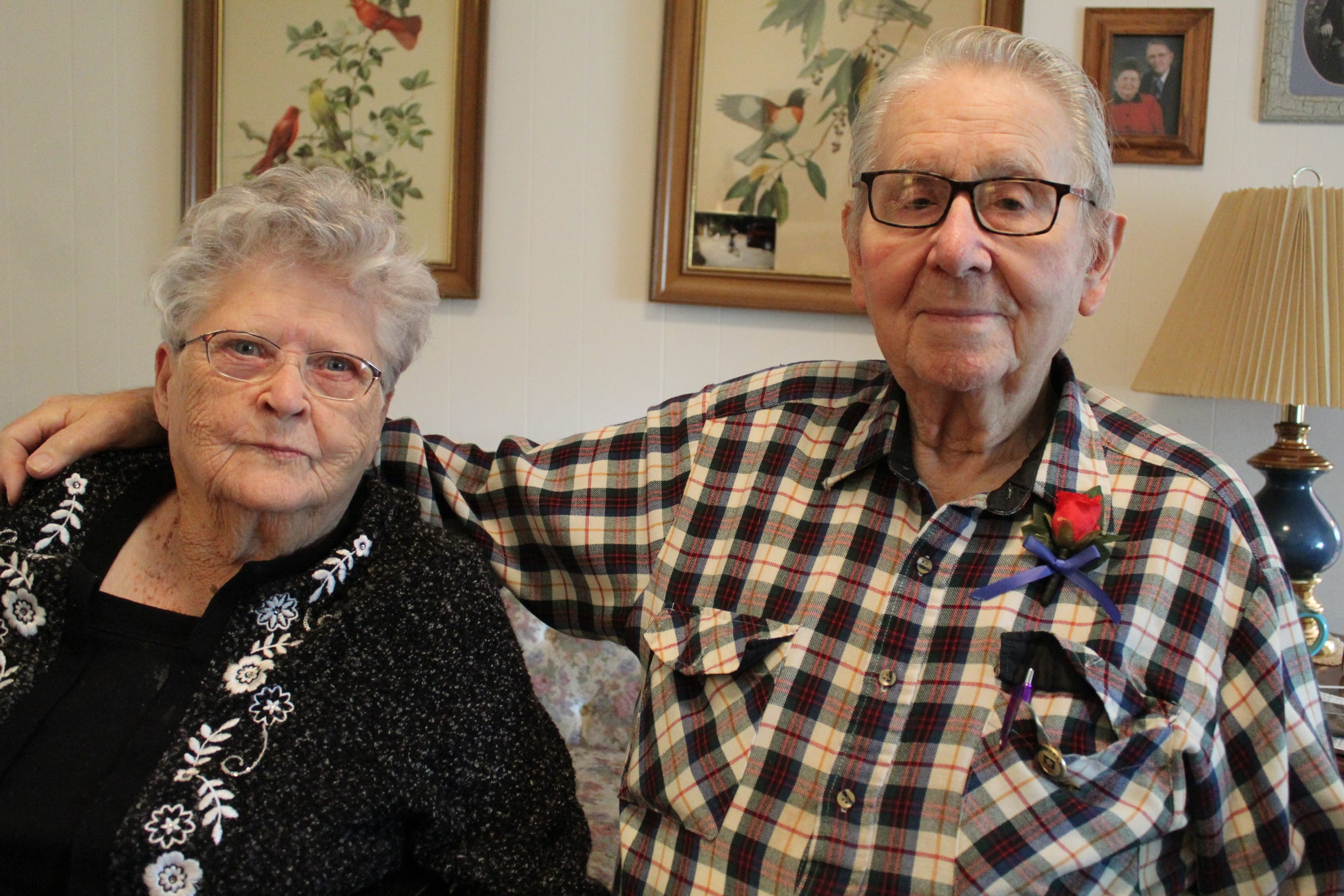 Betty and Calvin Haar will be celebrating their 73rd wedding anniversary Nov. 15. They corresponded with each other while Haar served as a U.S. army paratrooper overseas during World War II.