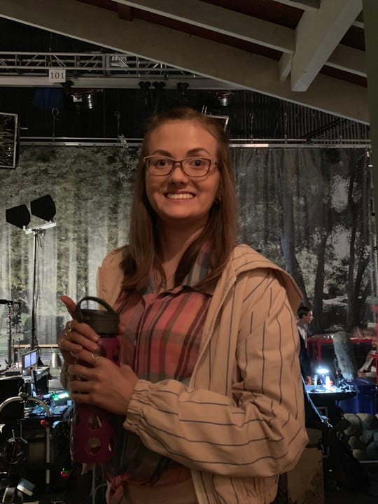 "Tal Anderson on the set of ""Atypical"""