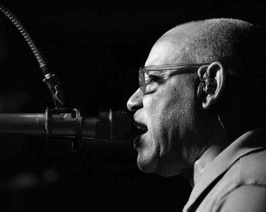 """Gerald Smith sings """"Just the Two of Us"""" by Grover Washington at Blues Boulevard."""
