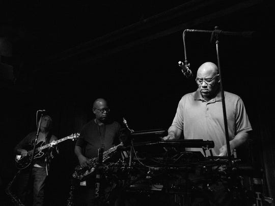 Gerald Smith, right, leads The Jazzsmiths while performing at Blues Boulevard.
