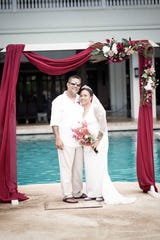 Dennis Nakamoto and Annabelle Nakamoto were married on Oct. 27 at the Sheraton Laguna Guam Resort by Lieutenant Governor Joshua F. Tenorio.