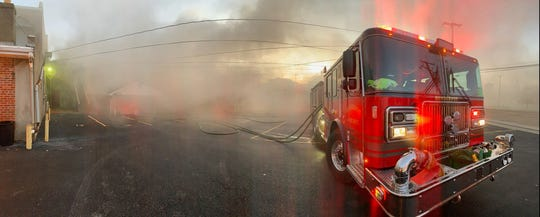 Henderson Fire Department battled a structure fire early Friday morning on First Street (Nov. 8, 2019).