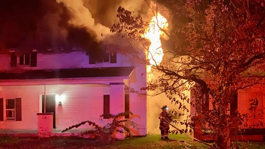The Henderson Fire Department responded to a house fire on Clay Street Thursday night (Nov. 7, 2019).
