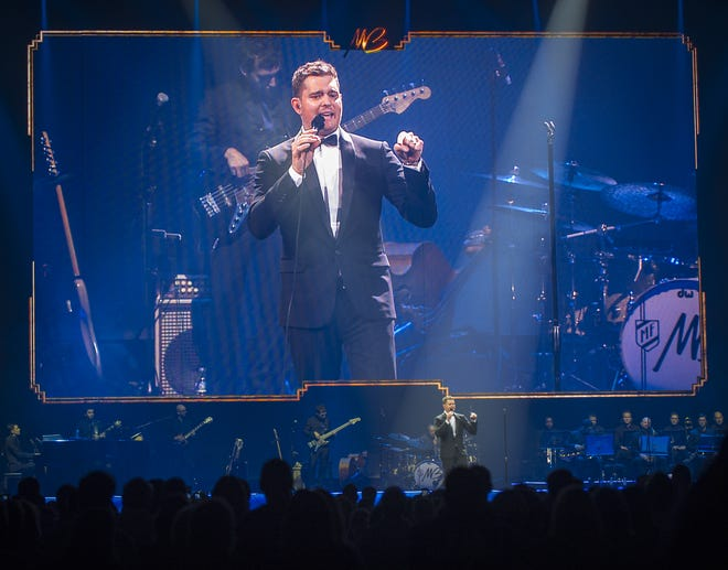 Grammy Award winner Michael Bublé performed on Sept. 15, 2013, at Bankers Life Fieldhouse in Indianapolis.