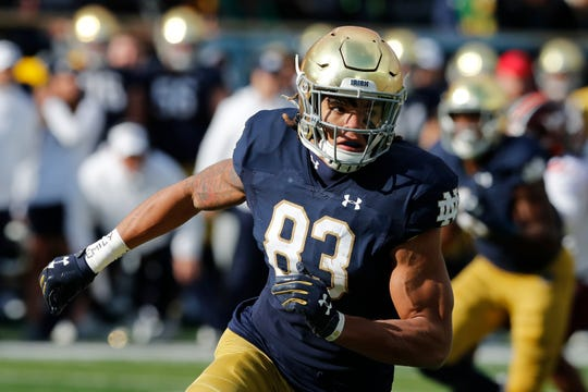 Opponents have to account for Notre Dame wide receiver Chase Claypool, who is a big play waiting to happen.