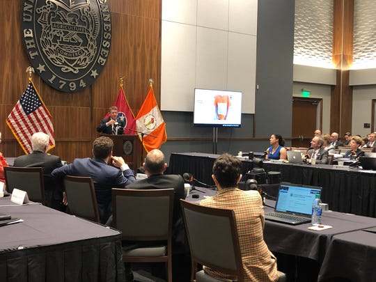 Interim UT System President Randy Boyd addresses the Board of Trustees on Friday, Nov. 8, 2019.