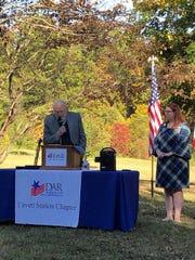 On Nov. 3, Dr. Charles Faulkner, University of Tennessee professor emeritus was presented a DAR Historic Preservation Medal.