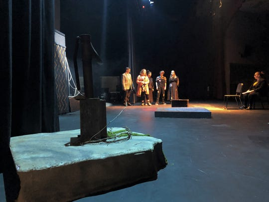 The pump where Earth-side characters go to spend time alone. A professional backdrop has been purchased for the fall play thanks to a Central High School Foundation grant.