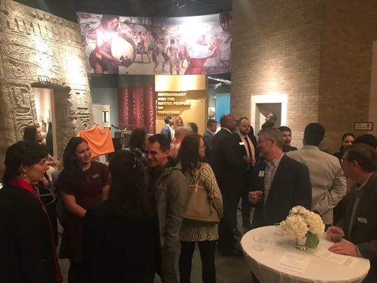 Guests at Bank of America's grant announcement gather in McClung Museum on Thursday, Nov. 7, 2019.