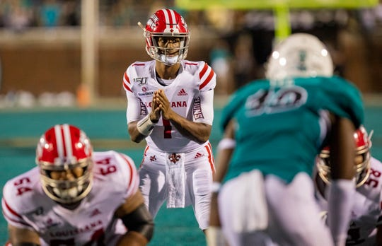 UL quarterback Levi Lewis threw for 296 yards in a win at Coastal Carolina last week.
