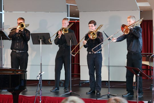 Lincoln Brass Ensemble performs as part of the Wisconsin School Music Association Exemplary Performance Recital Oct. 24 at the annual Wisconsin State Music Conference in Madison.