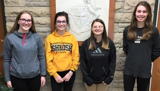 The Reedsville High School Students of the Month for September were Kate Greif and Molly Muhowski and the Students of the Month for October were Amber Schamburek and Makayla Junk.