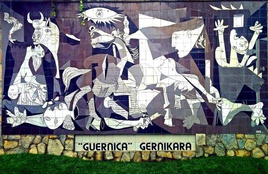 "Public space tribute to ""Guernica,"" Pablo Picasso, 1937"