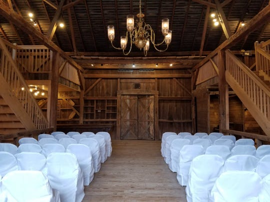 This is one of the settings for a wedding available at The Legacy on Possum Run, formerly Possum Run Greenhouse.