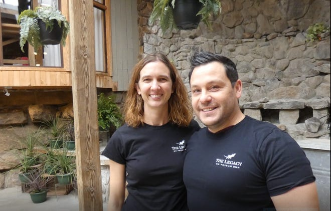 Whitney Schroeder and Jack Windsor are operating The Legacy on Possum Run Road, a destination wedding venue and event center in the former Possum Run  Greenhouse.