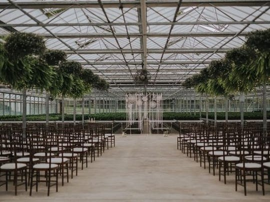 The greenhouse is one of the settings for a wedding at The Legacy on Possum Run. The site is the former home of the Possum Run Greenhouse which Whitney Schroeder and Jack Windsor are leasing and transforming into a wedding event venue.