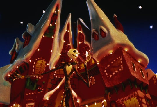 "Jack Skellington tries to switch holidays in ""Tim Burton's The Nightmare Before Christmas."""