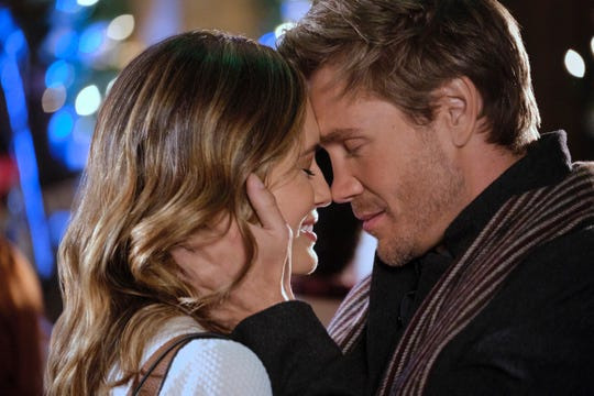 """Torrey DeVitto, left, and Chad Michael Murray star in the new Hallmark Channel holiday offering, """"Write Before Christmas."""""""