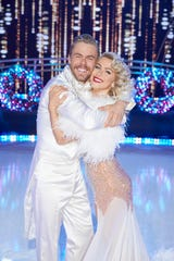 "Derek and Julianne Hough get into the season for ""Holidays With the Houghs,"" a new special on NBC."