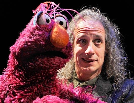 """Telly Monster is one of the """"Sesame Street"""" characters played by Martin P. Robinson, who grew up in Brookfield."""