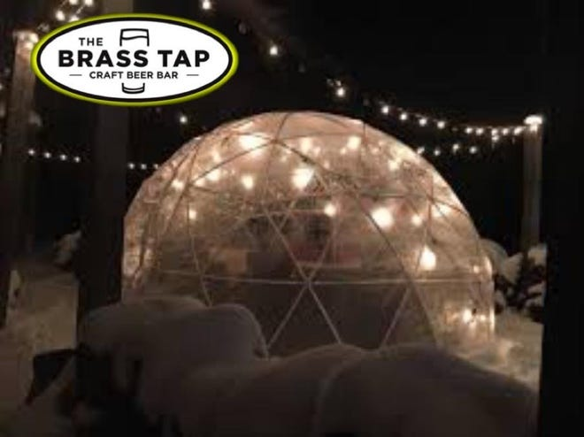 The Brass Tap in Greenfield will add The Polar Experience, 12-foot heated outdoor igloo, to the patio in December.