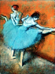 """Works by some of Europe's most famous painters, from Edgar Degas (""""Dancers at the Bar,"""" shown here) and Paul Cezanne to Wassily Kandinsky and Pablo Picasso, are the focus of the new exhibit at the Milwaukee Art Museum, """"A Modern Vision: European Masterworks from the Phillips Collection."""""""