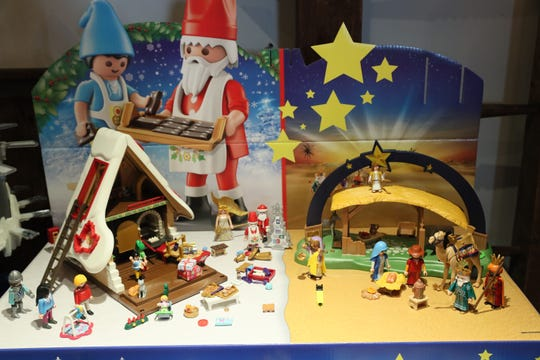 The Playmobil showroom in The Smiley Barn has several toy sets on display, including these Christmas-themed ones.