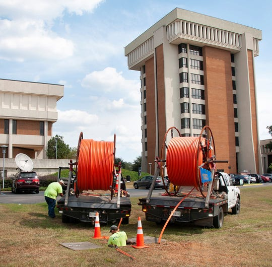 Troy Cable has rolled out new infrastructure in east Montgomery, including on the campus of Auburn Montgomery.