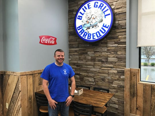 Shawn Lester is one of three partners of the new Blue Grill Barbeque restaurant on Nashville Pike in Gallatin.