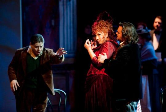 """Jennifer Rowley as Musetta  in """"La Boheme"""