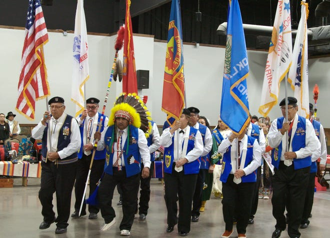 """The Comanche Indian Veterans Association Celebration and Powwow is shown in a scene from """"The Warrior Tradition."""""""