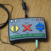 The controller for the Voter Assisted Terminal, with inputs in braille, for blind voters.