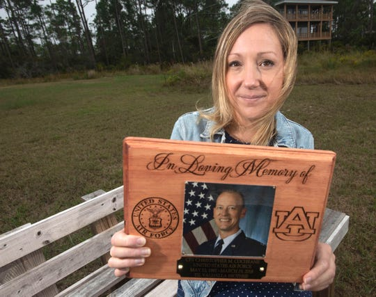 Ashley Cochrane, the widow of Air Force Capt. Christopher Cochrane, is honoring her late husband's memory by building a retreat for wounded service members and their families.