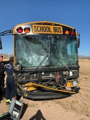 The driver of a Tempe Union High School bus after the vehicle lost control and veered off of Loop 202 near 40th Street in Phoenix Thursday morning. No children were on the bus.